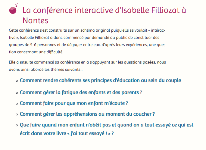 conference Filliozat