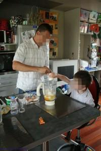 cuisiner avec papa