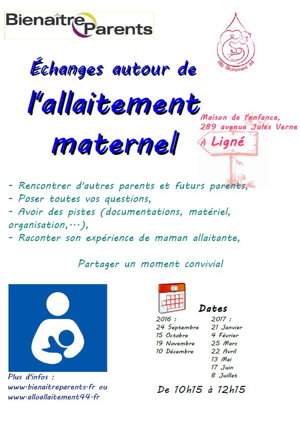Réunion autours de l' allaitement maternel sur Ligné 44850
